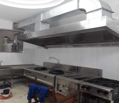 Thi công lắp đặt chụp hút khói nhà bếp